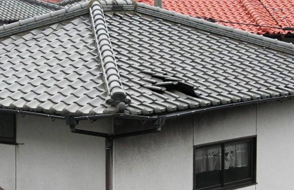 台風被害_屋根修理_瓦修理